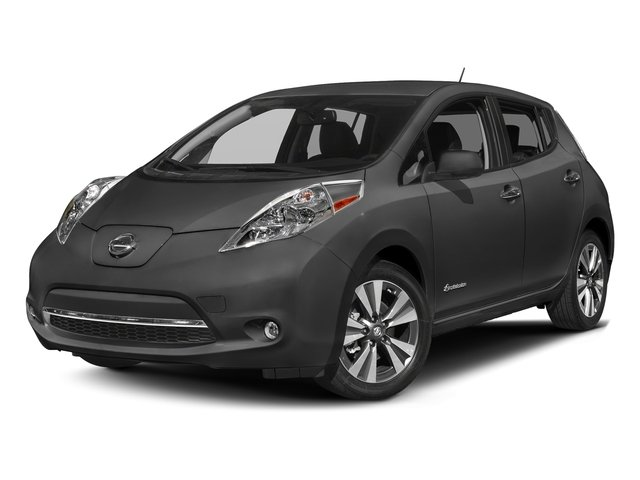 Gun Metallic 2017 Nissan LEAF Pictures LEAF SV Hatchback photos front view