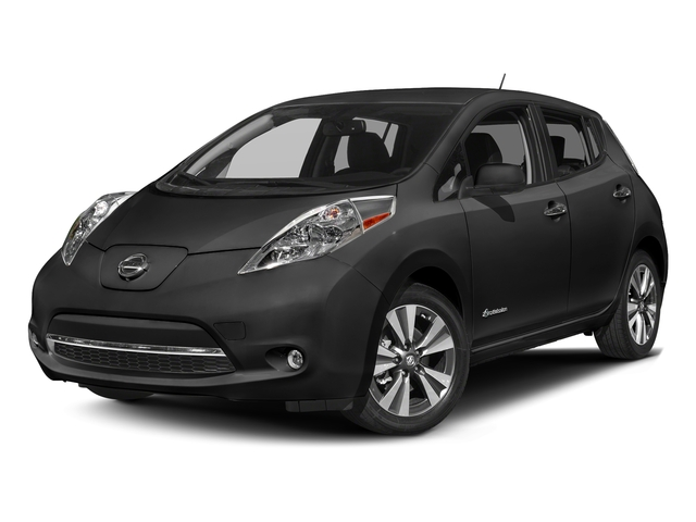 Super Black 2017 Nissan LEAF Pictures LEAF SV Hatchback photos front view
