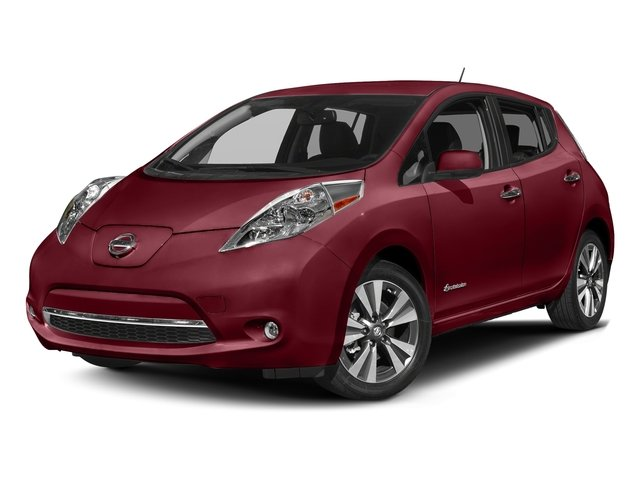 Coulis Red 2017 Nissan LEAF Pictures LEAF SV Hatchback photos front view