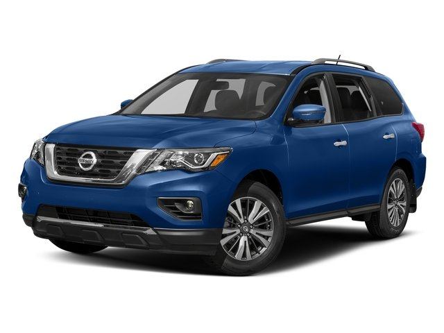 Caspian Blue 2017 Nissan Pathfinder Pictures Pathfinder Utility 4D SL 2WD V6 photos front view