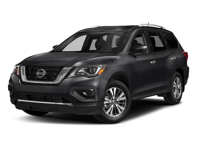 Magnetic Black Metallic 2017 Nissan Pathfinder Pictures Pathfinder Utility 4D S 2WD V6 photos front view