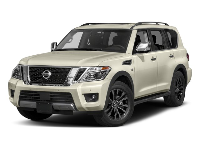 Pearl White 2017 Nissan Armada Pictures Armada Utility 4D Platinum 2WD V8 photos front view