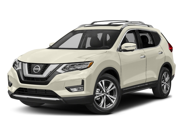 Pearl White 2017 Nissan Rogue Pictures Rogue Utility 4D SL AWD I4 photos front view