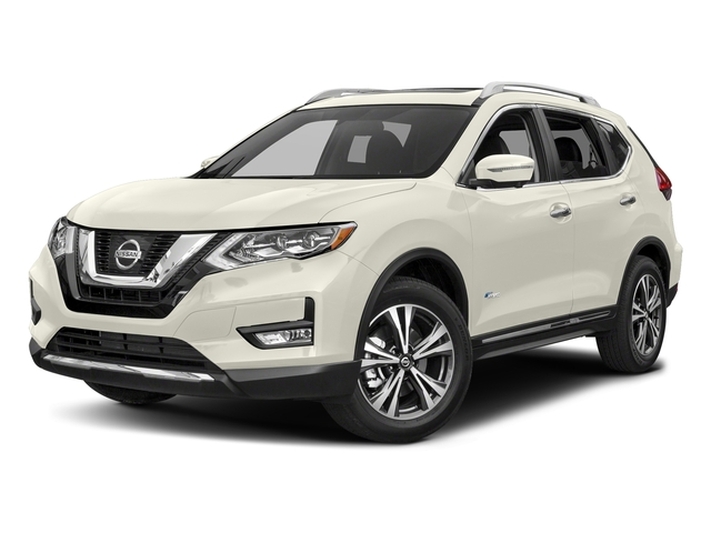 Glacier White 2017 Nissan Rogue Pictures Rogue Utility 4D SV AWD I4 Hybrid photos front view