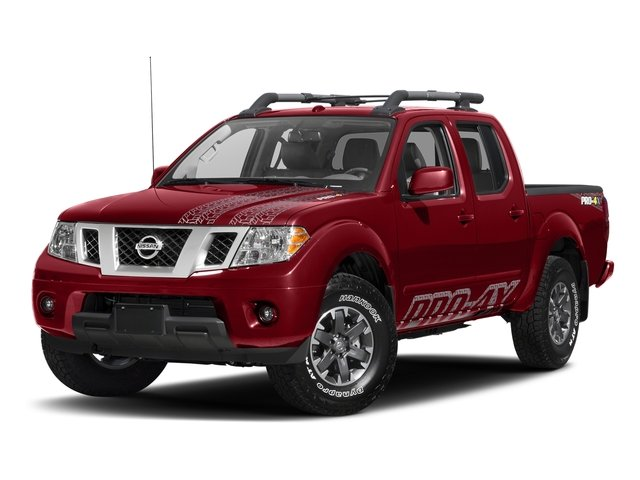 Lava Red 2017 Nissan Frontier Pictures Frontier Crew Cab PRO-4X 4WD photos front view