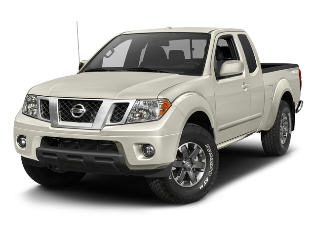 Glacier White 2017 Nissan Frontier Pictures Frontier King Cab 4x4 PRO-4X Auto photos front view
