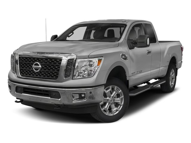 Brilliant Silver 2017 Nissan Titan XD Pictures Titan XD Extended Cab PRO-4X 4WD photos front view