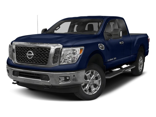 Deep Blue Pearl 2017 Nissan Titan XD Pictures Titan XD Extended Cab PRO-4X 4WD photos front view