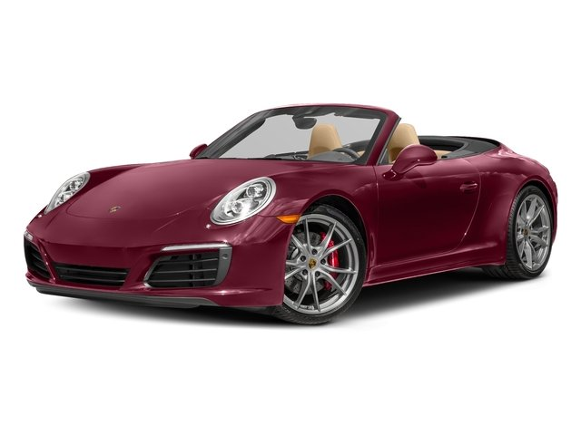 Carmine Red 2017 Porsche 911 Pictures 911 Carrera 4S Cabriolet photos front view