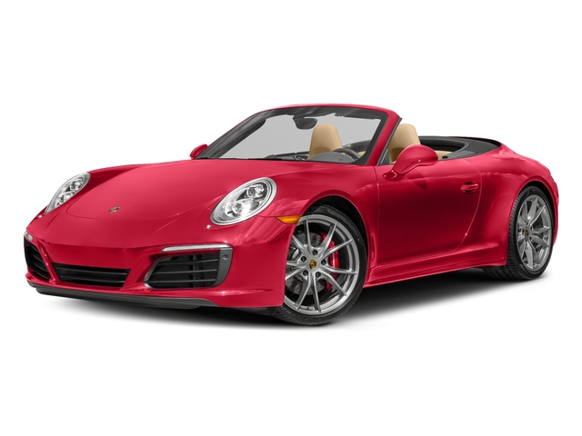 Guards Red 2017 Porsche 911 Pictures 911 Carrera 4 Cabriolet photos front view