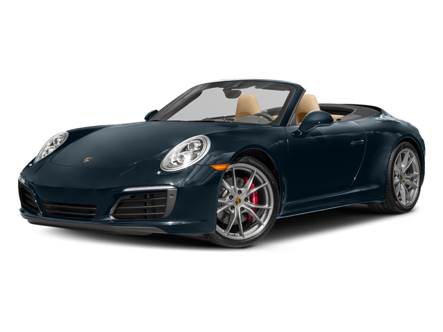 Night Blue Metallic 2017 Porsche 911 Pictures 911 Carrera 4S Cabriolet photos front view