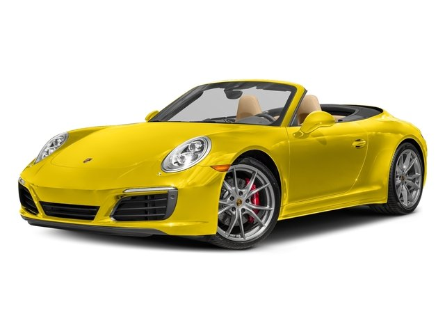 Racing Yellow 2017 Porsche 911 Pictures 911 Carrera 4S Cabriolet photos front view