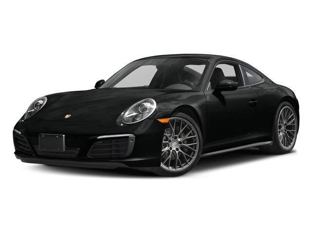 Jet Black Metallic 2017 Porsche 911 Pictures 911 Carrera 4 Coupe photos front view
