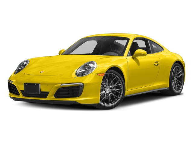 Racing Yellow 2017 Porsche 911 Pictures 911 Carrera 4 Coupe photos front view