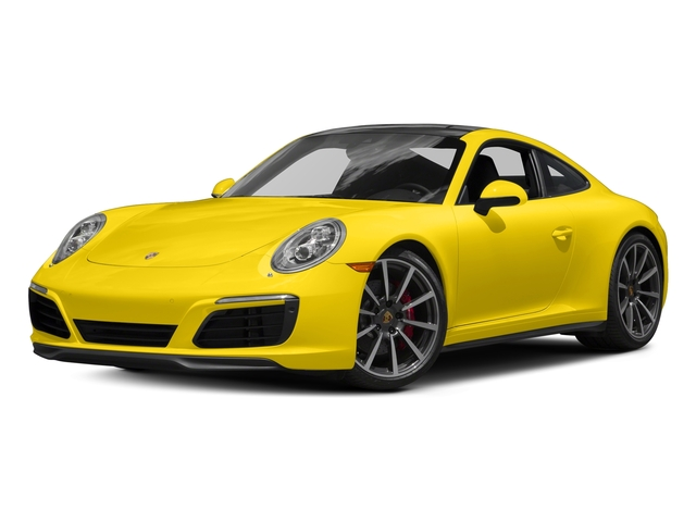 Racing Yellow 2017 Porsche 911 Pictures 911 Carrera 4S Coupe photos front view