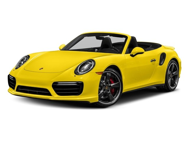 Racing Yellow 2017 Porsche 911 Pictures 911 Turbo Cabriolet photos front view