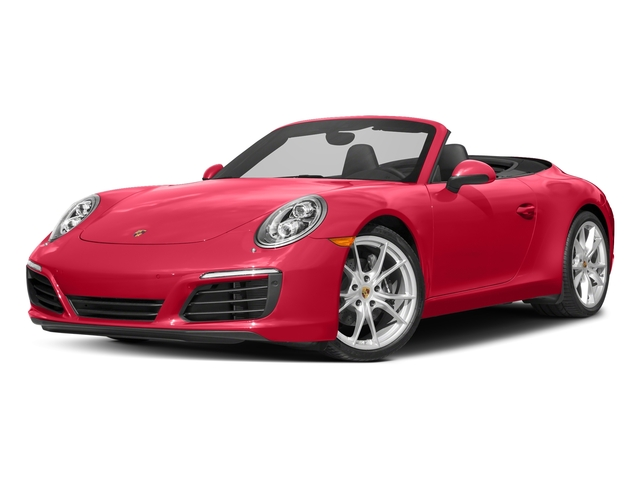Guards Red 2017 Porsche 911 Pictures 911 Carrera Cabriolet photos front view