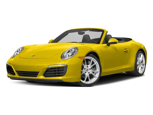 Racing Yellow 2017 Porsche 911 Pictures 911 Carrera Cabriolet photos front view