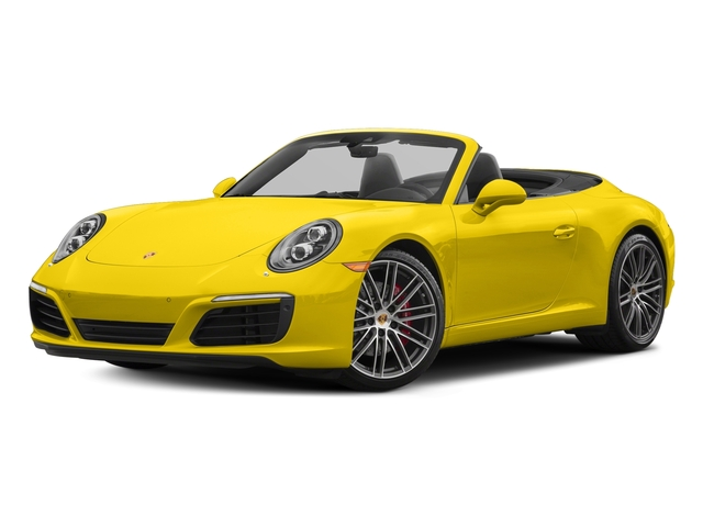 Racing Yellow 2017 Porsche 911 Pictures 911 Carrera S Cabriolet photos front view