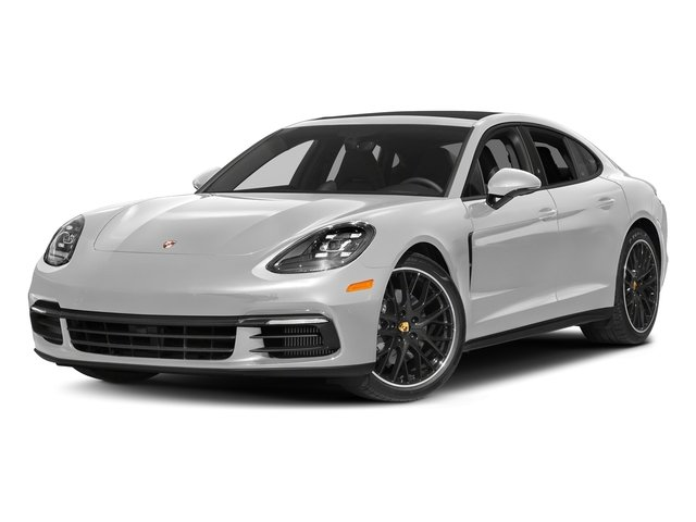 Carrara White Metallic 2017 Porsche Panamera Pictures Panamera 4S Executive AWD photos front view