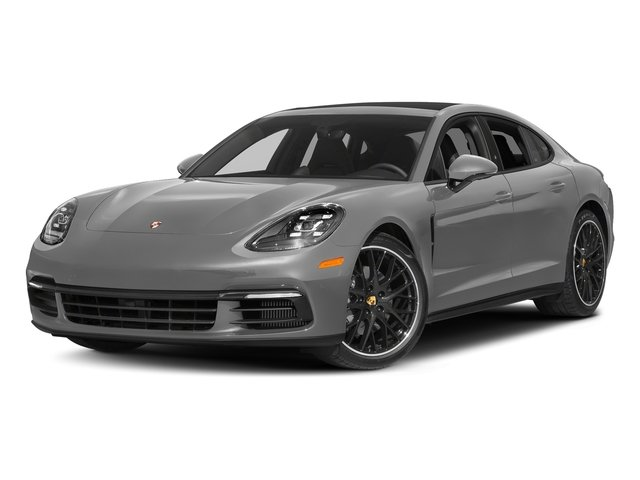 Rhodium Silver Metallic 2017 Porsche Panamera Pictures Panamera 4S Executive AWD photos front view
