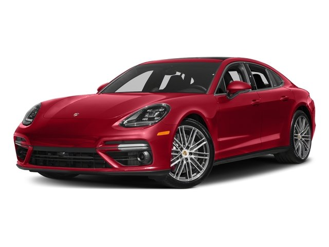Carmine Red 2017 Porsche Panamera Pictures Panamera Turbo Executive AWD photos front view
