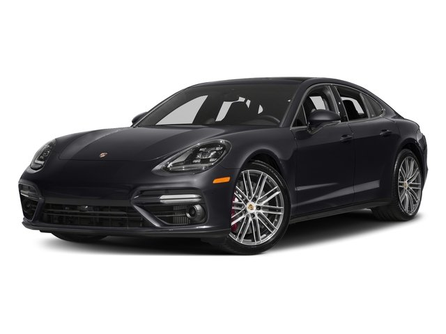 Jet Black Metallic 2017 Porsche Panamera Pictures Panamera Turbo Executive AWD photos front view