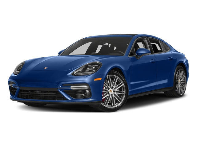 Sapphire Blue Metallic 2017 Porsche Panamera Pictures Panamera Turbo Executive AWD photos front view