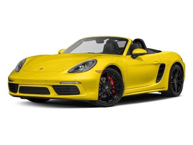 Racing Yellow 2017 Porsche 718 Boxster Pictures 718 Boxster Roadster 2D S H4 Turbo photos front view