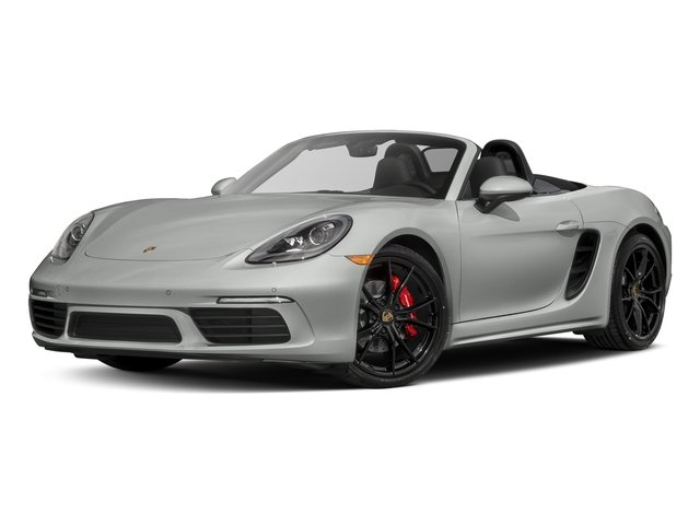 Rhodium Silver Metallic 2017 Porsche 718 Boxster Pictures 718 Boxster Roadster 2D S H4 Turbo photos front view