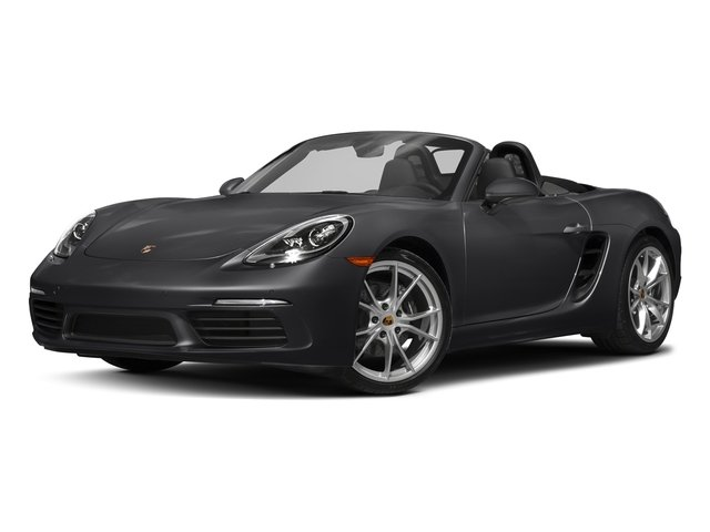 Black 2017 Porsche 718 Boxster Pictures 718 Boxster Roadster 2D H4 Turbo photos front view