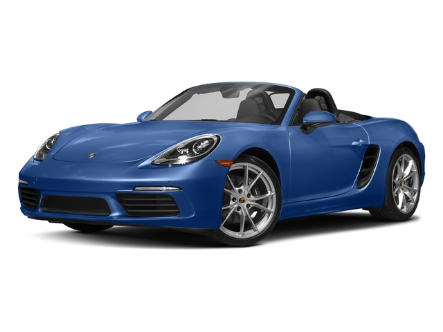 Sapphire Blue Metallic 2017 Porsche 718 Boxster Pictures 718 Boxster Roadster photos front view