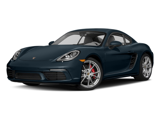 Night Blue Metallic 2017 Porsche 718 Cayman Pictures 718 Cayman Coupe 2D S H4 Turbo photos front view