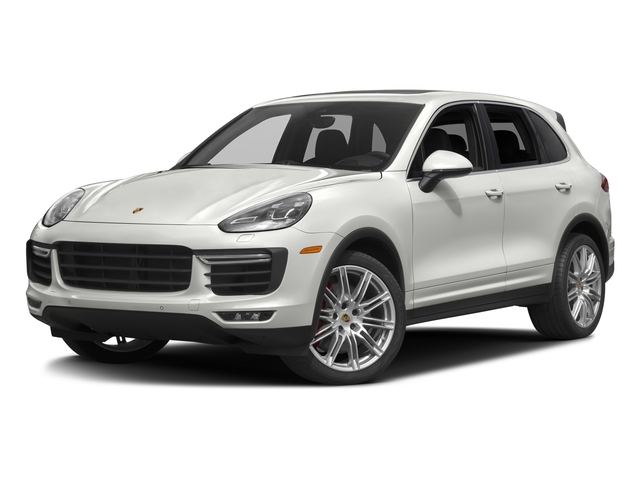 White 2017 Porsche Cayenne Pictures Cayenne Utility 4D AWD V8 Turbo photos front view