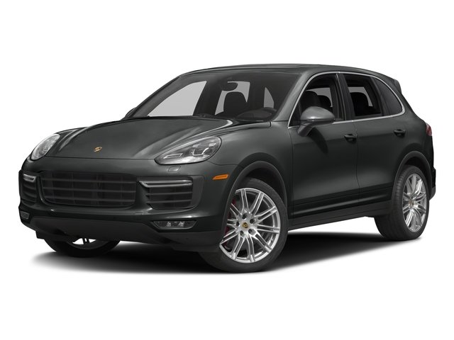 Jet Black Metallic 2017 Porsche Cayenne Pictures Cayenne Turbo AWD photos front view