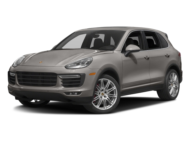 Meteor Grey Metallic 2017 Porsche Cayenne Pictures Cayenne Utility 4D AWD V8 Turbo photos front view