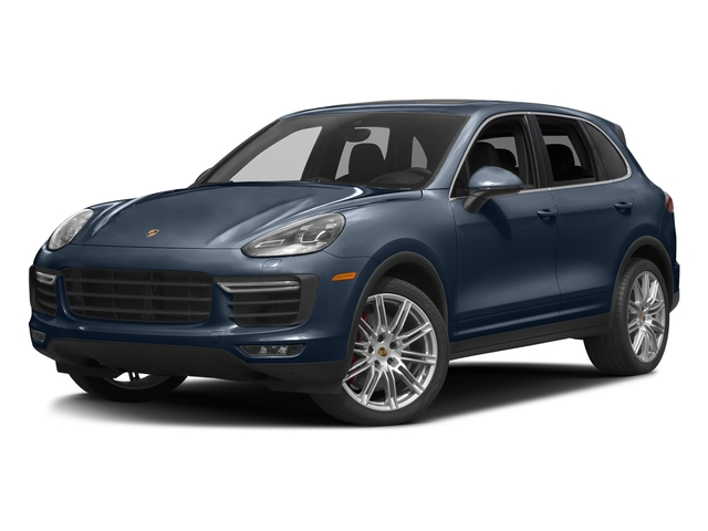 Moonlight Blue Metallic 2017 Porsche Cayenne Pictures Cayenne Turbo AWD photos front view