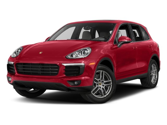 Carmine Red 2017 Porsche Cayenne Pictures Cayenne Utility 4D AWD V6 photos front view