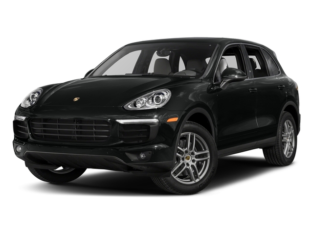 Jet Black Metallic 2017 Porsche Cayenne Pictures Cayenne AWD photos front view