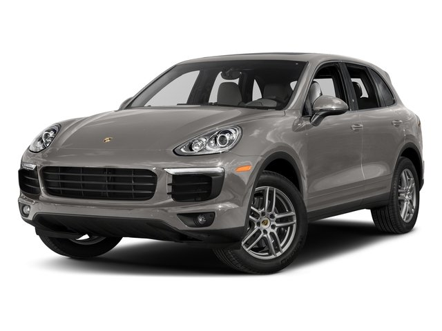 Meteor Grey Metallic 2017 Porsche Cayenne Pictures Cayenne Utility 4D AWD V6 photos front view
