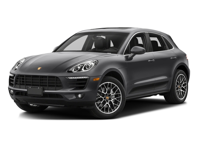 Volcano Grey Metallic 2017 Porsche Macan Pictures Macan Utility 4D S AWD V6 Turbo photos front view