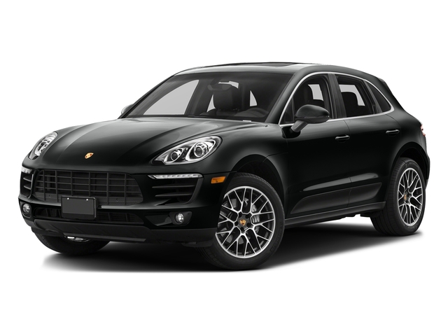 Jet Black Metallic 2017 Porsche Macan Pictures Macan Utility 4D S AWD V6 Turbo photos front view