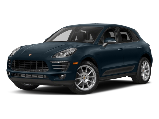 Night Blue Metallic 2017 Porsche Macan Pictures Macan Utility 4D AWD I4 Turbo photos front view