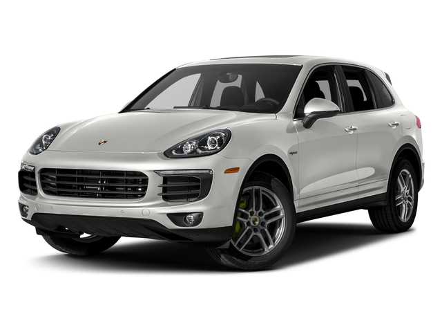 White 2017 Porsche Cayenne Pictures Cayenne S E-Hybrid Platinum Edition AWD photos front view