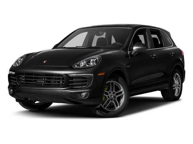 Jet Black Metallic 2017 Porsche Cayenne Pictures Cayenne S E-Hybrid AWD photos front view