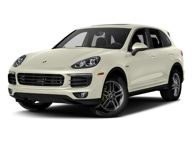 Carrara White Metallic 2017 Porsche Cayenne Pictures Cayenne S E-Hybrid AWD photos front view