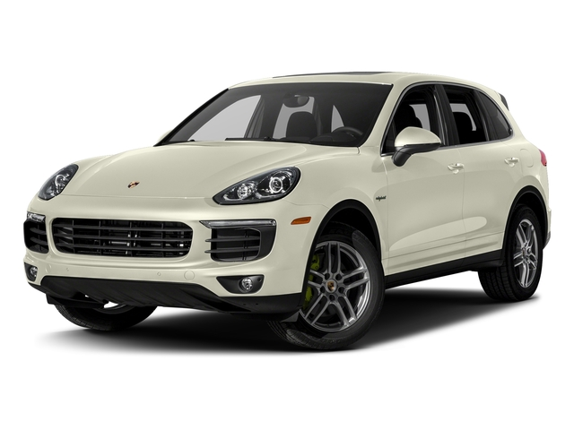 Carrara White Metallic 2017 Porsche Cayenne Pictures Cayenne S E-Hybrid Platinum Edition AWD photos front view