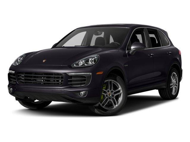 Purpurite Metallic 2017 Porsche Cayenne Pictures Cayenne S E-Hybrid Platinum Edition AWD photos front view
