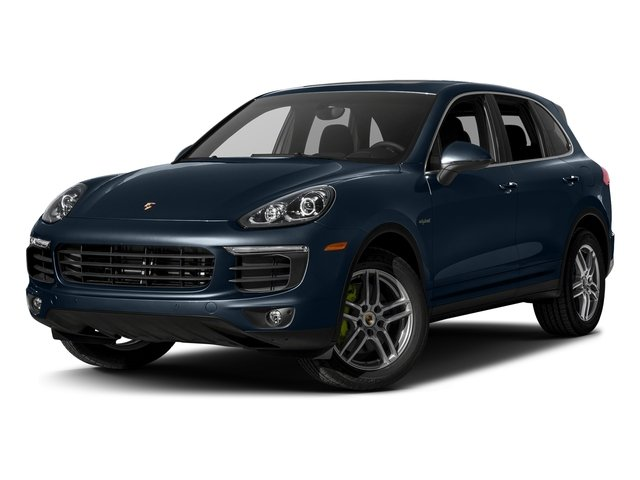 Moonlight Blue Metallic 2017 Porsche Cayenne Pictures Cayenne S E-Hybrid AWD photos front view