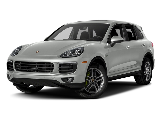 Rhodium Silver Metallic 2017 Porsche Cayenne Pictures Cayenne S E-Hybrid Platinum Edition AWD photos front view